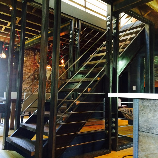 Industrial staircase philadelphia by alpha genesis for Alpha home interior decoration llc