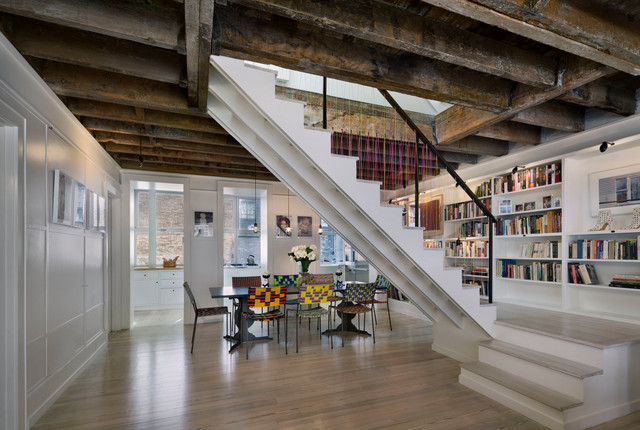 Greenwich Village Townhouse Industrial Staircase New