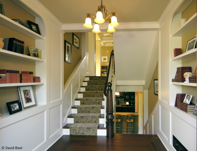 Ingleside - Modern 1920s Shingle Style traditional-staircase