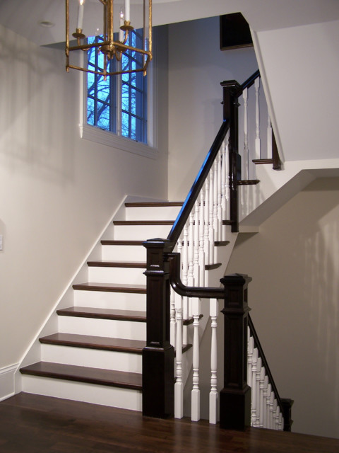 Interesting Transitional Style Stairs Traditional