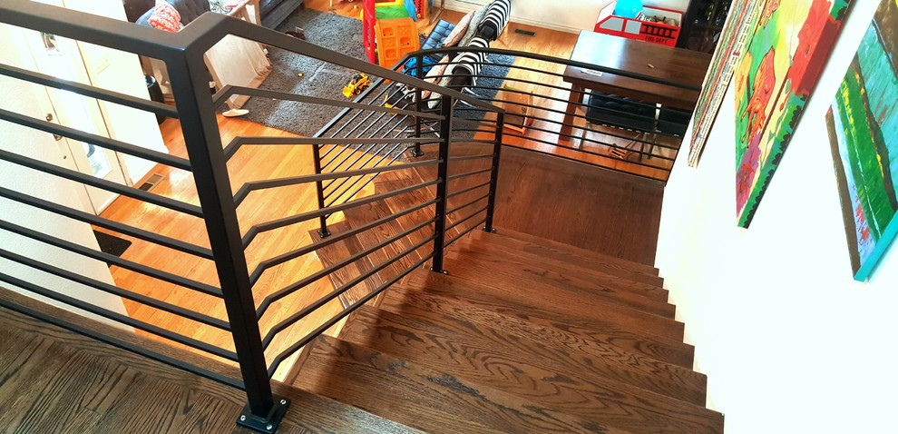 Interior Curved Railing - Scandinavian - Staircase ...