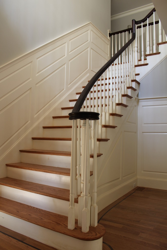 Example of a classic staircase design in Boston