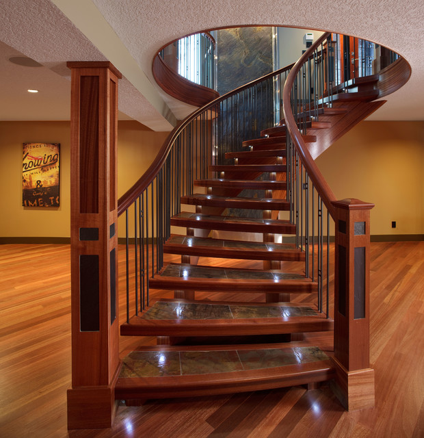 Interior hardwood flooring traditional staircase for Hardwood floors on stairs