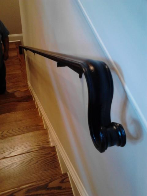 Interior Iron Handrail Staircase Atlanta By Womack