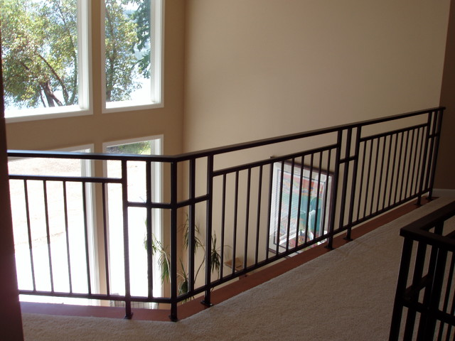 Interior Railing Eclectic Staircase Seattle By Cascade Homes Custom Construction Llc