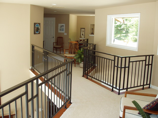 Interior railing eclectic staircase seattle by - Interior stair railing contractors ...