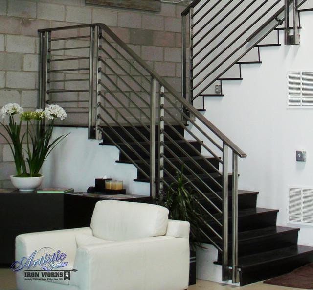 Interior Railings Contemporary Staircase Las Vegas
