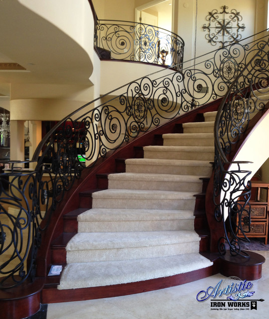 Interior Railings Traditional Staircase Las Vegas