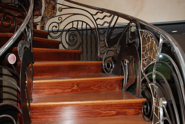 Interior Railings eclectic-staircase