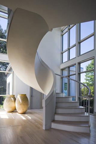 Amazing Interior Spiral Stair Modern Staircase