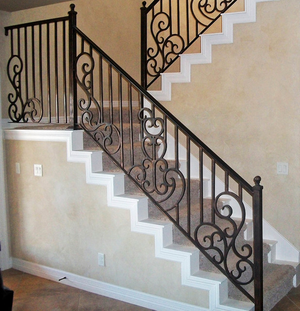 Interior stair railing traditional staircase other for Interior iron railing designs