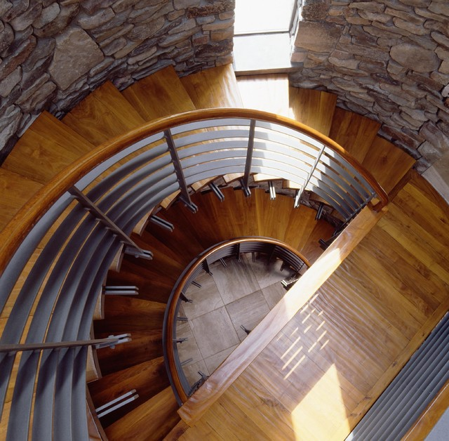 Glass Stair Towers : Interior stair tower