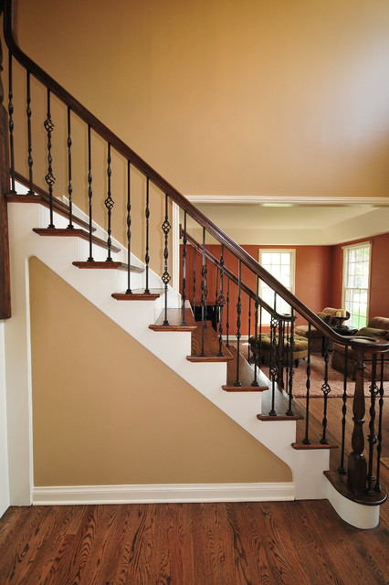 Interior staircase traditional staircase chicago for Custom staircase design