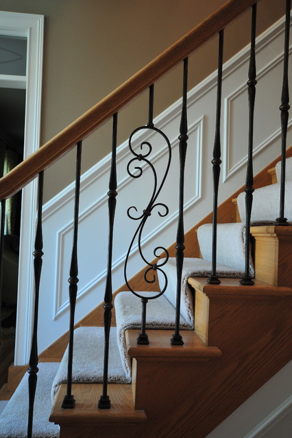 interior staircase - traditional - staircase - chicago