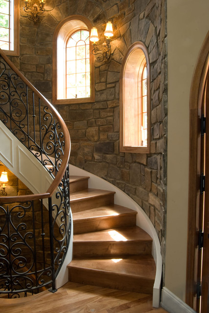 Interior Walls With Pinnacle Stone Veneer Mediterranean