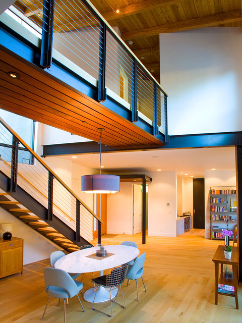 Interiors industrial staircase san francisco by for Www feeneyinc com