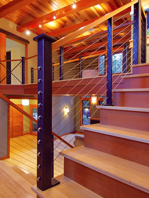 Interiors industrial staircase seattle by feeney inc for Www feeneyinc com