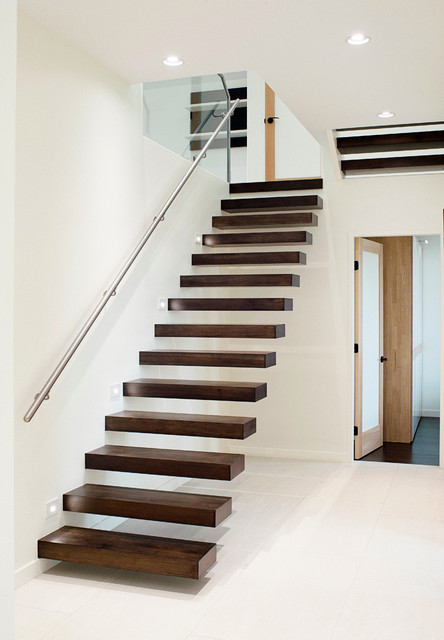 Interiors contemporary staircase vancouver by for Free floating stairs