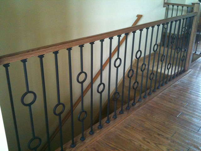 Iron Balusters Contemporary Staircase Chicago By Stairsupplies
