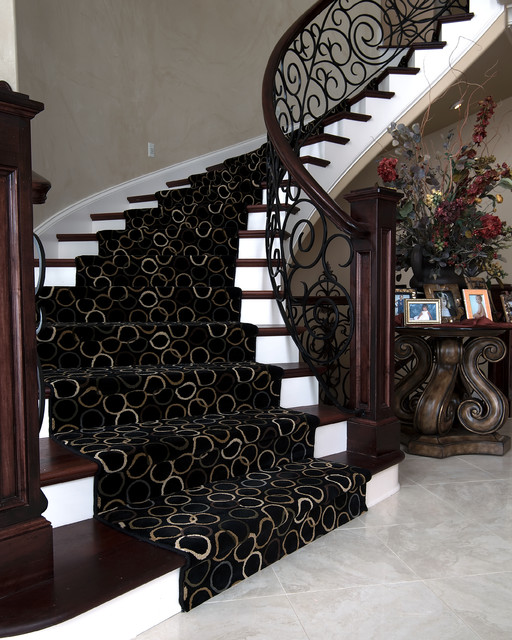 Iron Curved Staircase Modern Staircase Kansas City