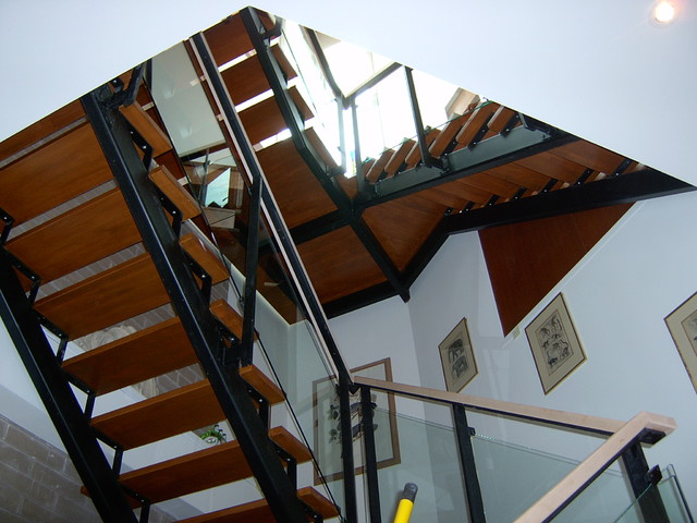 Iron Stairs modern-staircase