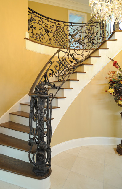 Italianate Railing Traditional Staircase Louisville