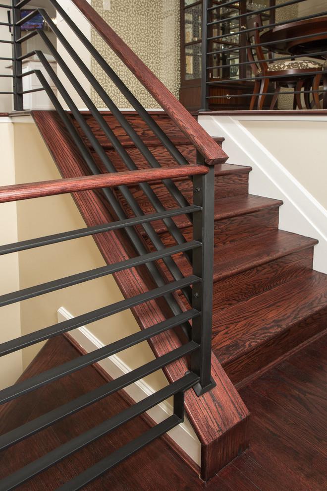 Jan's Metal Handrail - Transitional - Staircase - DC Metro ...