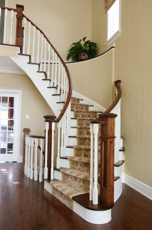 Carpeted arched stairs