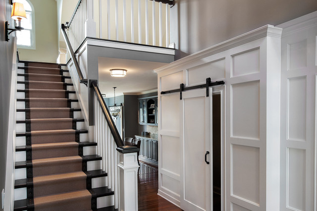 Kate Marker Interiors Transitional Staircase Chicago By Marcel Page Photography
