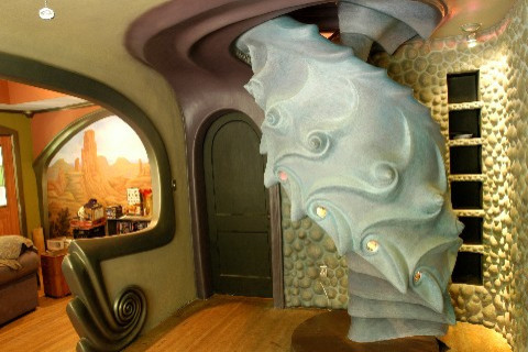 kenyland spiral staircase eclectic-staircase
