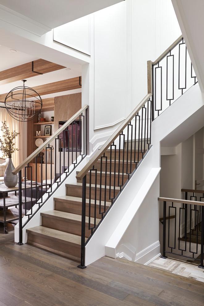 Kingsway Custom Home - Transitional - Staircase - Toronto ...