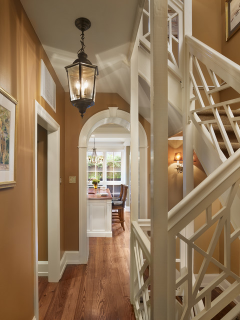 kitchen addition traditional-staircase