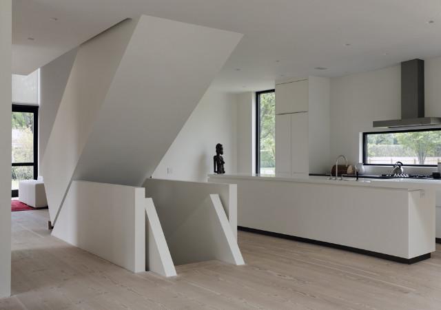 Kitchen contemporary-staircase