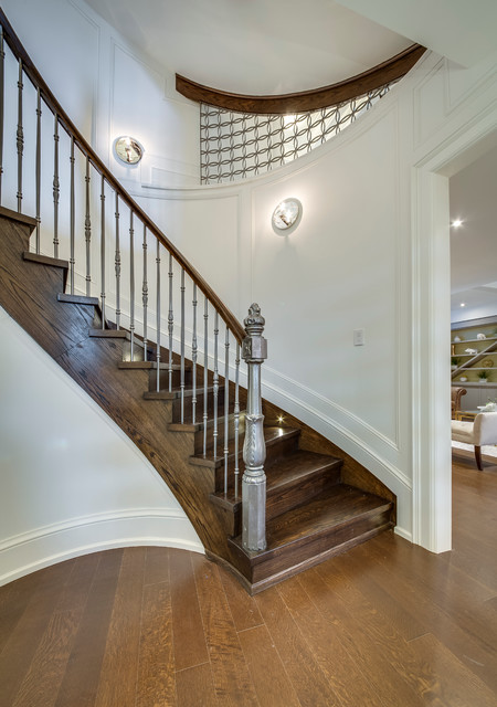 Staircase - large modern staircase idea in Toronto