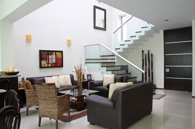 Modern staircase escalera moderna modern staircase for Escaleras en salas