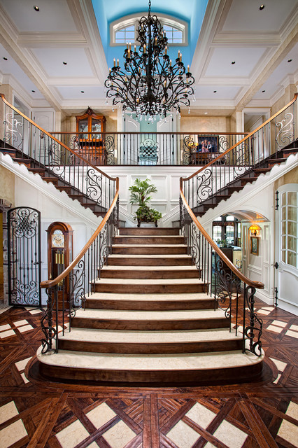 Foyer Staircase Questions : Laguna hills country french manor mediterranean