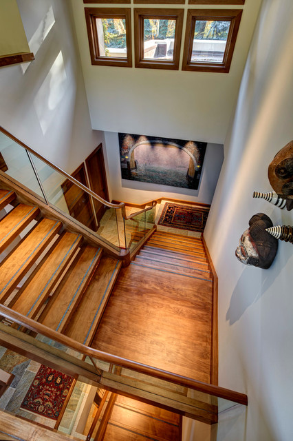 Bloomfield Township contemporary-staircase