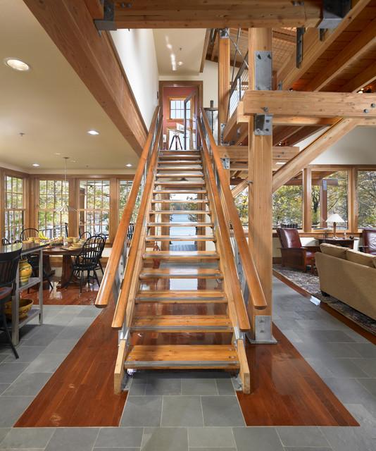 Lake Ariel Residence modern-staircase