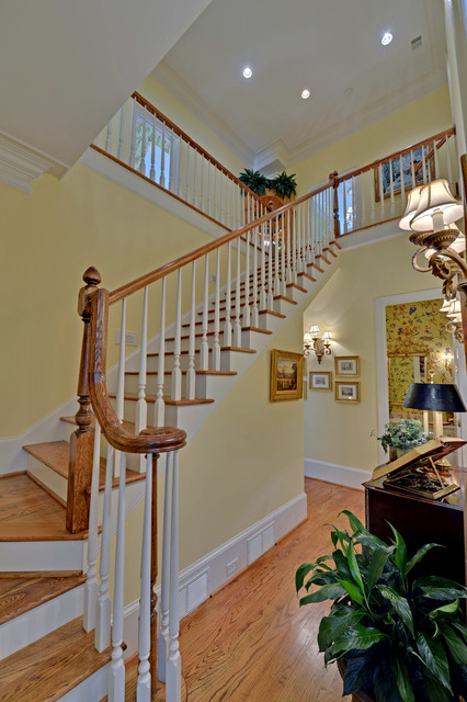 Lake Burton Custom Homes rustic-staircase