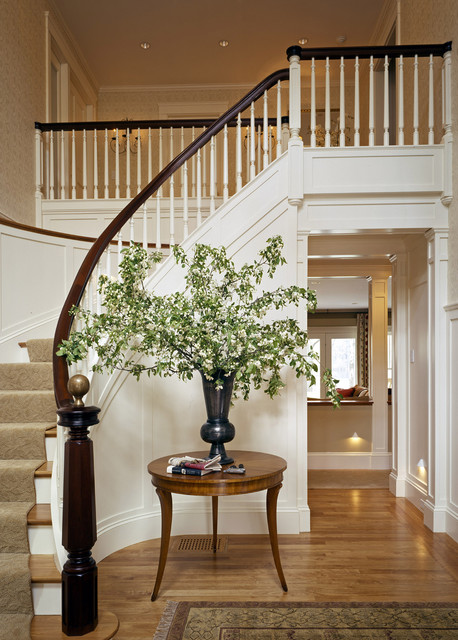 Lake house traditional staircase other metro by for Foyer staircase decorating ideas