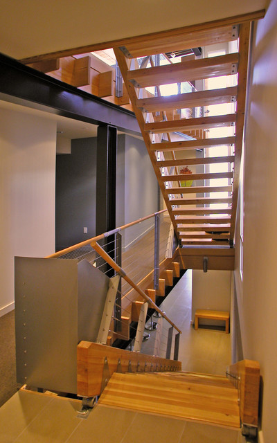 Example of a trendy staircase design in Other