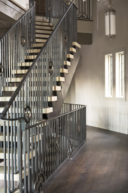 Lake Residence transitional-staircase