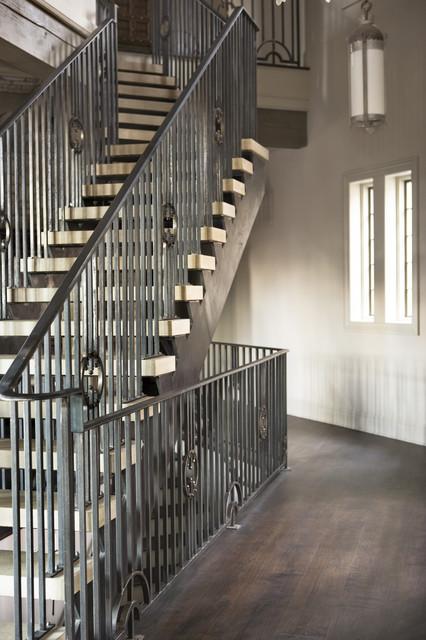 Lake Residence transitional-staircase