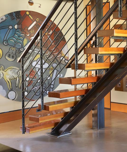Stair Detail Industrial Staircase Seattle By Dan