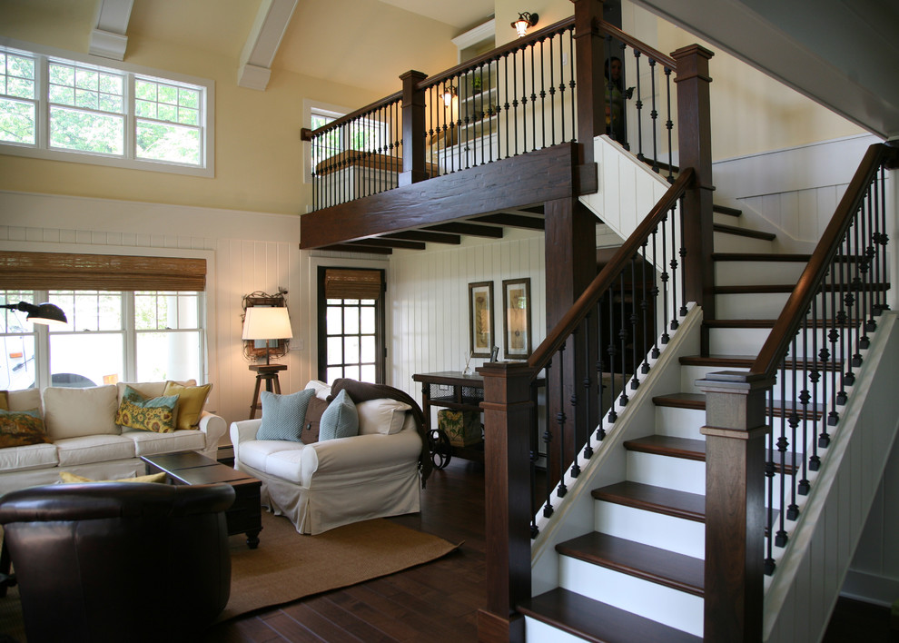 Inspiration for a timeless staircase remodel in Milwaukee