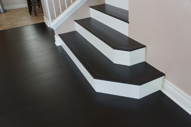 Laminate Floors And Custom Stairs   Craftsman   Staircase ...