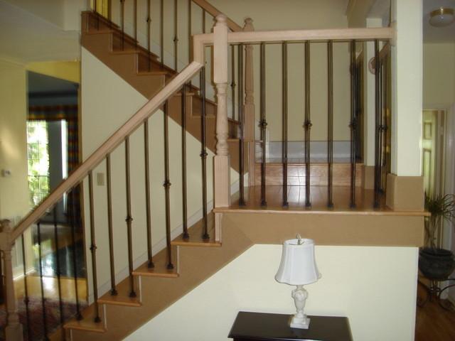 Laminate   Hardwood traditional-staircase