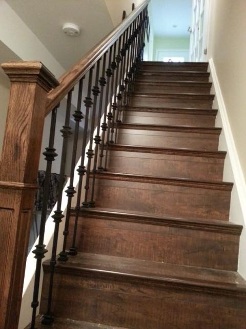 Laminated Staircase Traditional Staircase Toronto