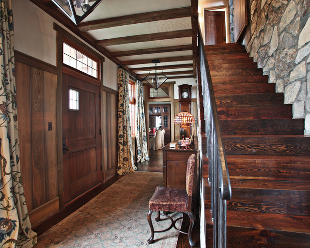Landrum sc residence rustic staircase atlanta by the belding