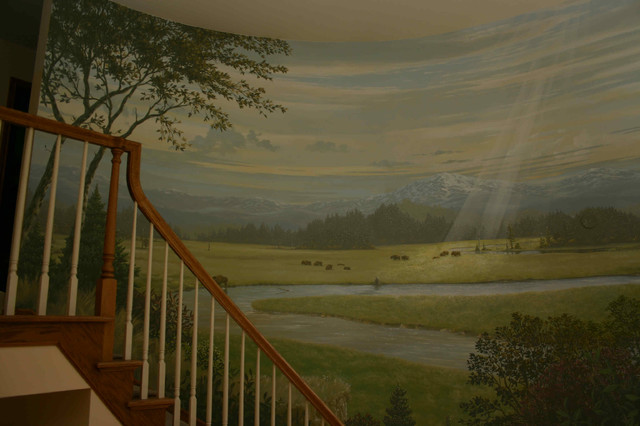 Landscape Murals Traditional Staircase Seattle By